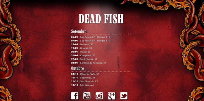 Brazilian hardcore band Dead Fish's official website
