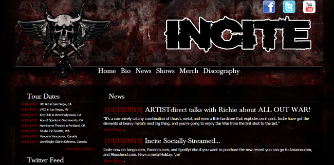 Official incite website