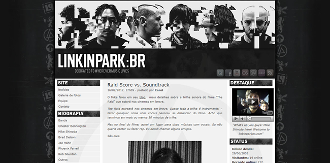 Linkin Park's official fansite in Brasil